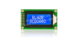 8x2 Serial Character LCD Module